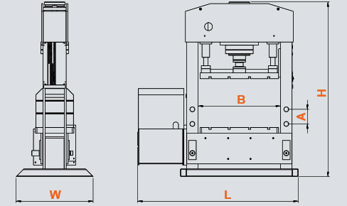 AT / UNIVERSAL T-SLOT HYDRAULIC PRESS LFSS Sahin Machinery