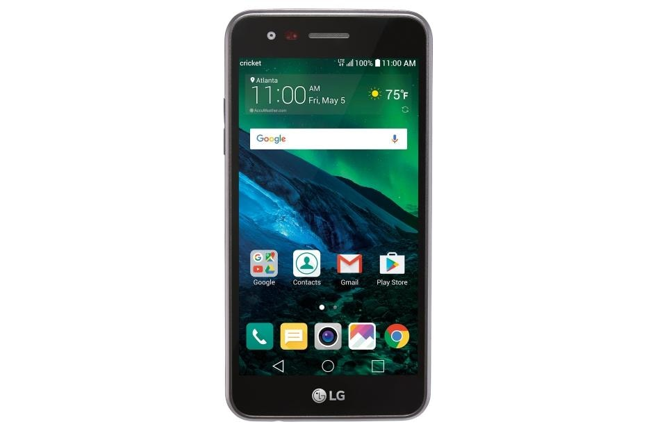 LG Fortune Smartphone for Cricket Wireless (M153) in Black LG USA