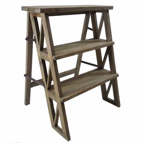 Etagère Meuble Escalier Escabeau Pliable Porte Plantes Bibliothèque