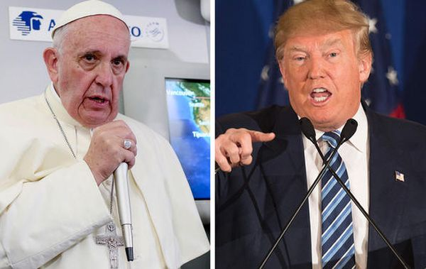 Pope Francis and Donald Trump
