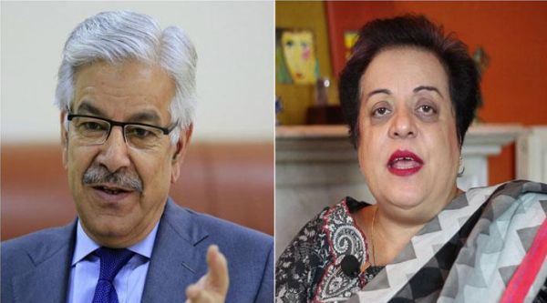 Khwaja Asif and Shireen Mazari