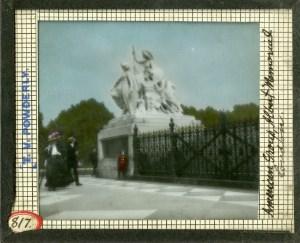 """American Group, Albert Memorial, London"" Lantern Slide #817"