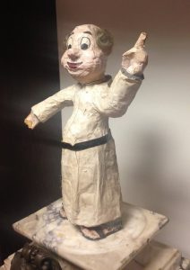 One can imagine paper mache Hartke exhorting his Shakespearian thespians. Drama Department Records, American Catholic History Research Center and University Archives.