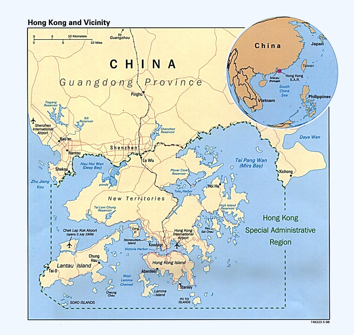World Map Hong Kong China
