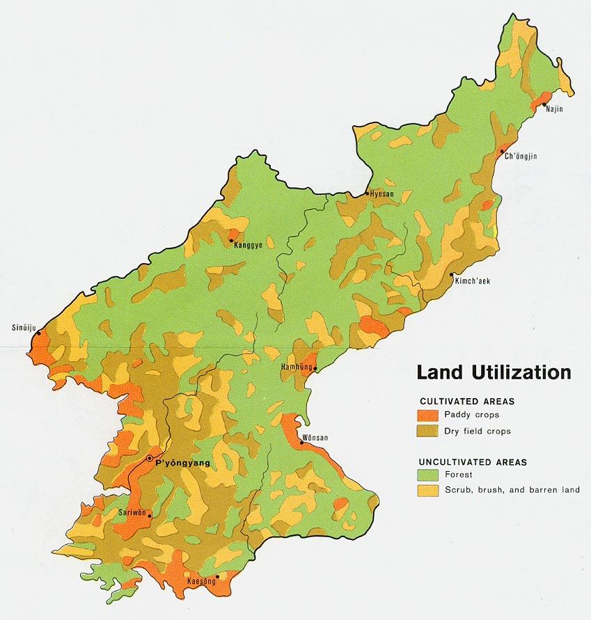 Vegetation of South Korea Central + East Asia Pinterest South - best of world map at night korean