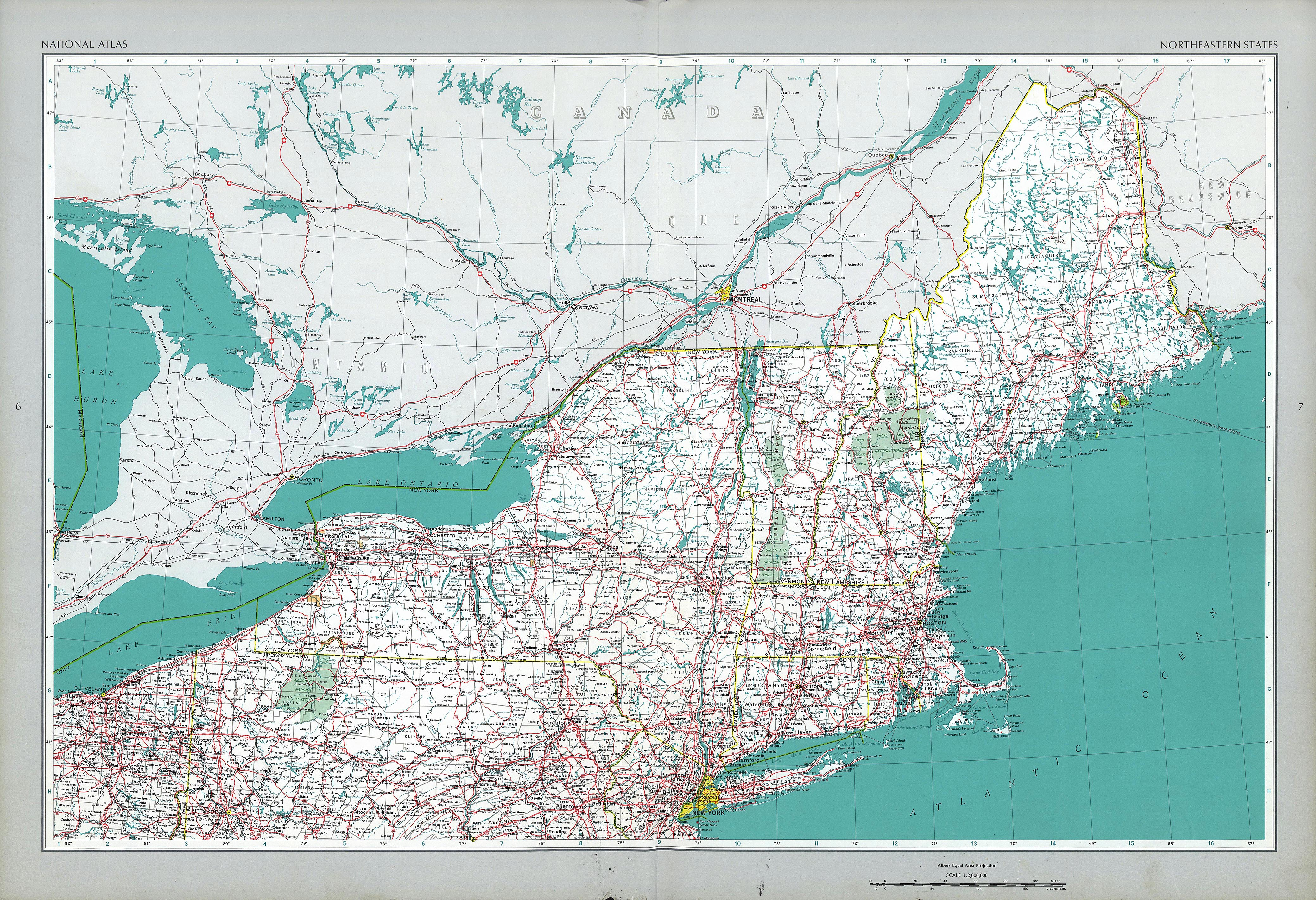 North East Us Map Multi Flow Map - Northeastern usa map