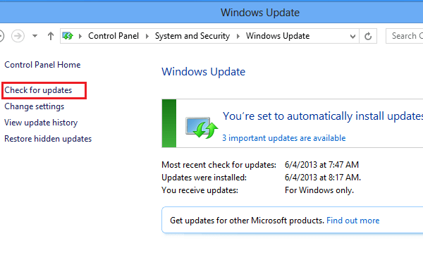 how to tell when windows is updating