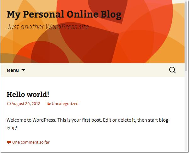 wordpress-blogging-cpanel-startpage
