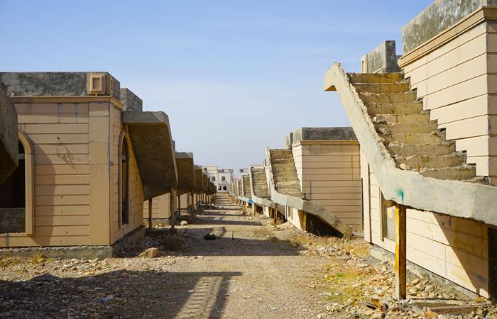 """Una immagine del complesso residenziale abbandonato, ora chiamato """"Tiger Town"""""""