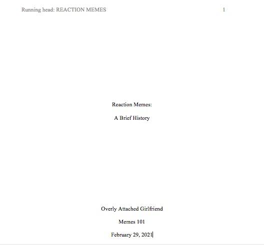 Basic Turabian Title Page The Writing Centaur Liberty University