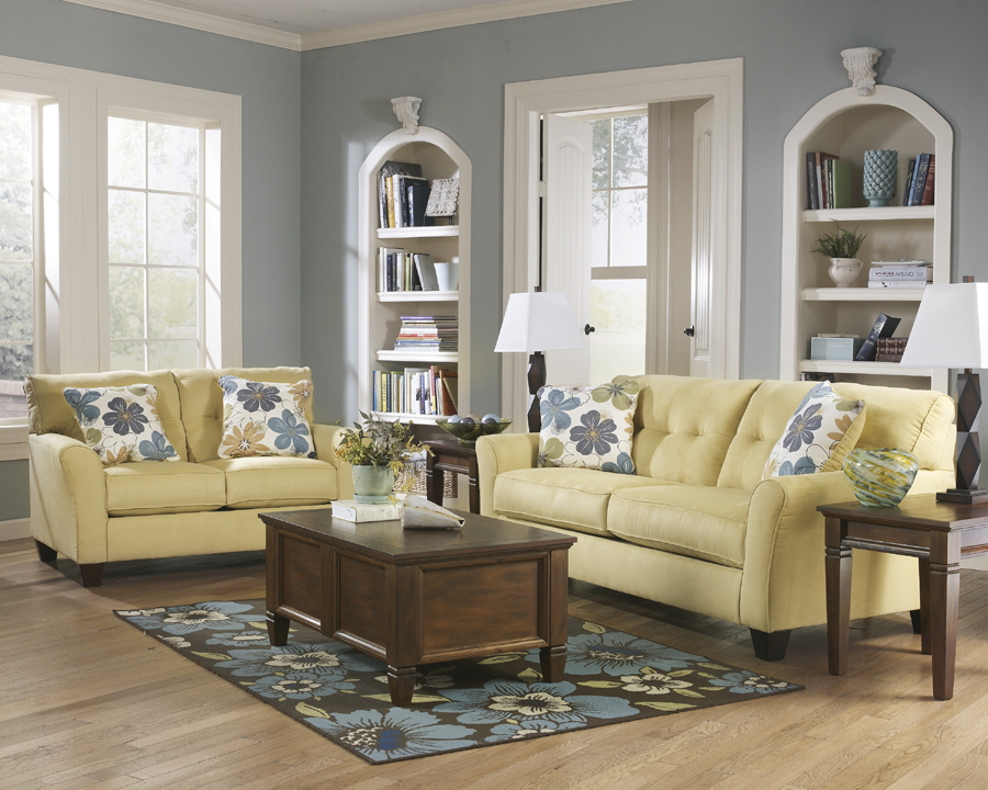 """Living Room Furniture Ashley Liberty Lagana Furniture in Meriden, CT: The """"Kylee Goldenrod"""" Collection by Ashley Furniture"""