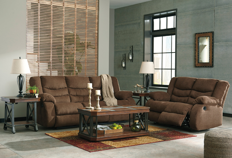 "Living Room Furniture Ashley Liberty Lagana Furniture in Meriden, CT: The ""Tulen: Chocolate"" Living Room Collection by Ashley ..."