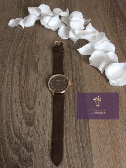 Montre chiffres arabes total brown
