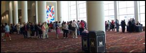 A long line of librarians wound around the hallway waiting for Lopez to sign copies of 'The Soloist.'