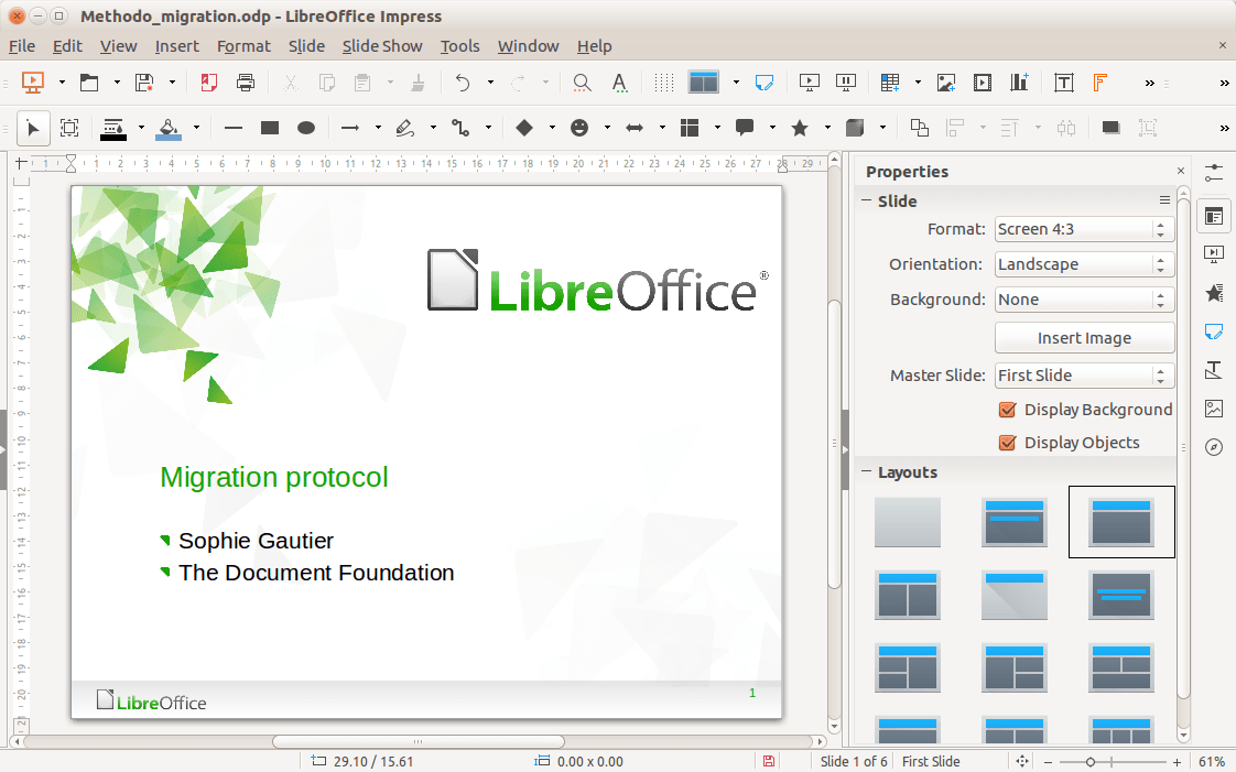 libre office impress cv