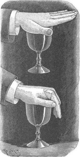 Levantar un vaso con la palma de la mano