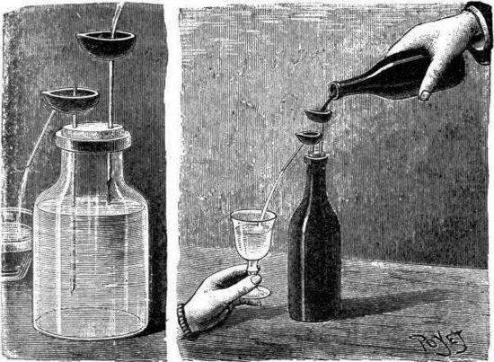 El vino transformado en agua