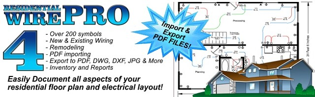 Residential Wire Pro Software - Draw Detailed Electrical Floor Plans