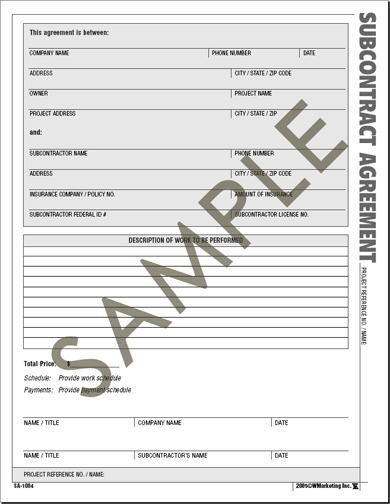 building contract form template - free contractor forms templates