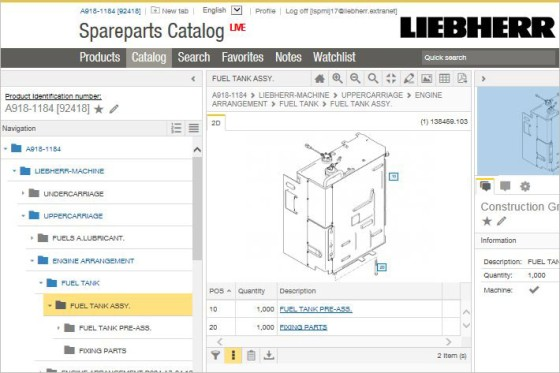 MyLiebherr \u2013 Spare parts catalog - Liebherr