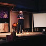 I took to the stage at a local event, giving a presentation on getting to know your oracle cards.