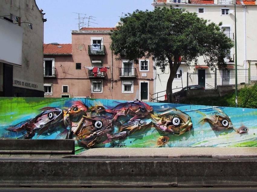 12-Bordalo II - Amazing Street Art Murals From Trash