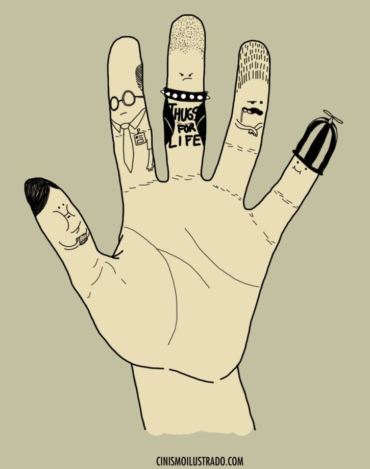 5 Finger Personalities