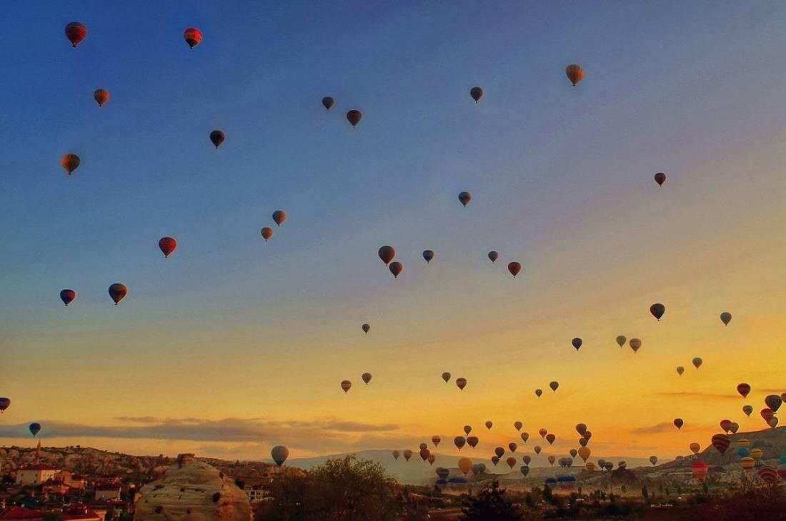 Magnificent Sunsets Cappadocia Turkey