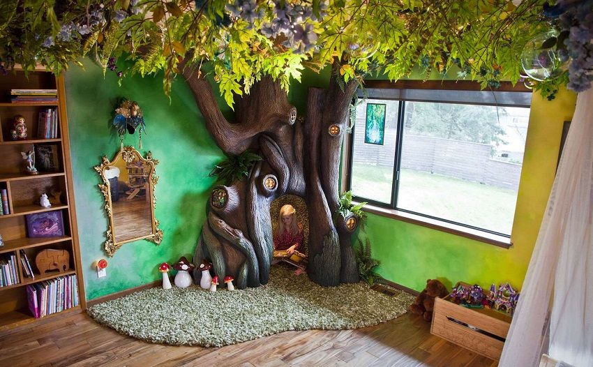 Daddy Create Fairy Tree Daughter's Bedroom