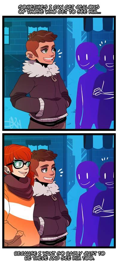 Long distance relationships comic illustration