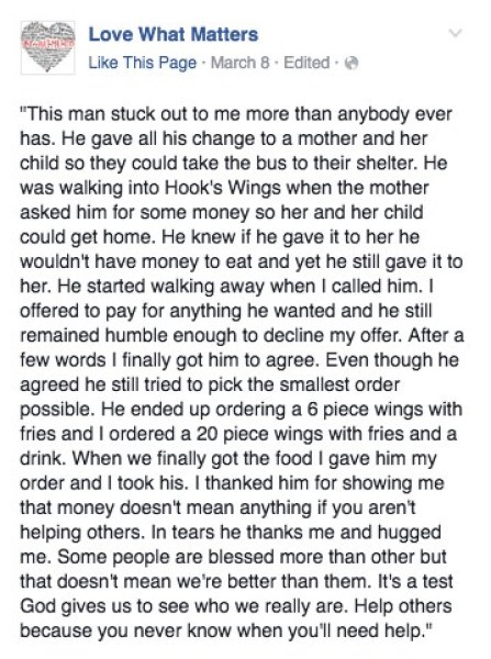 Help others, a heartwarming story