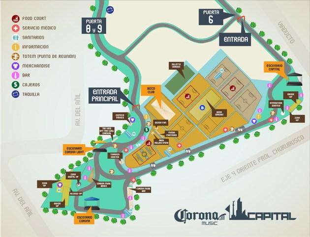 Mapa oficial del #CC13.