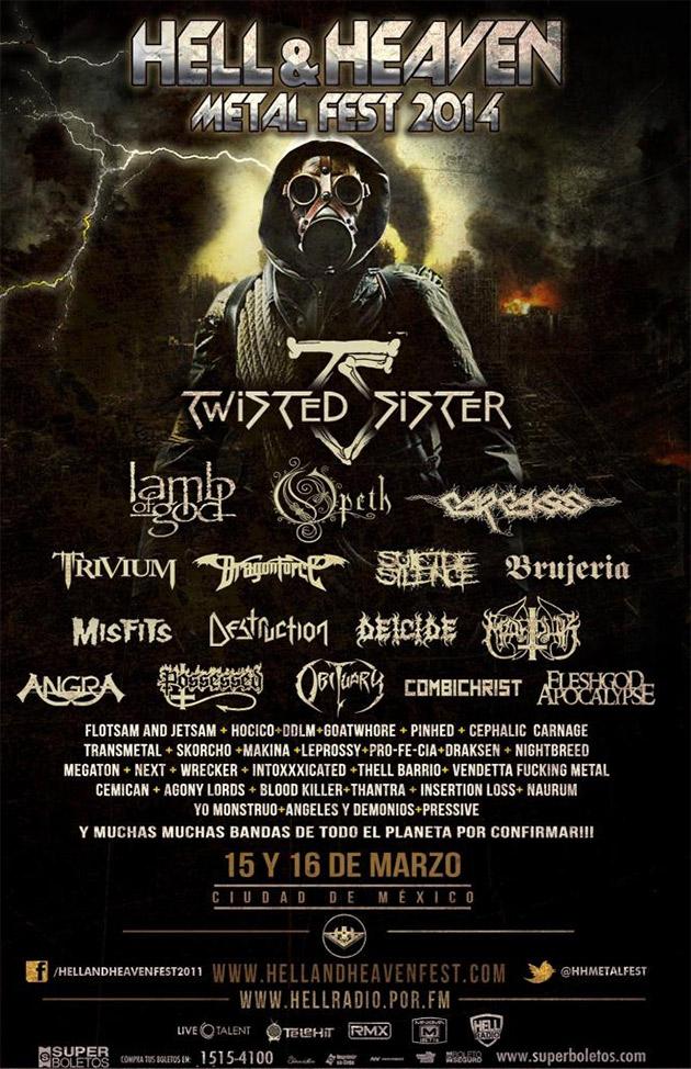Cartel oficial del Hell & Heaven Fest 2014.