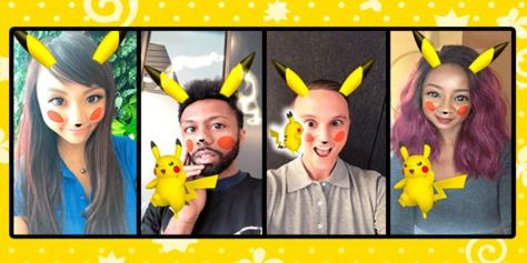 Snapchat Pokemon Pikachu