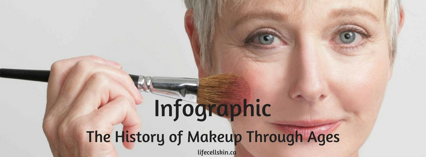 The History of Makeup Through Ages- Infographic \u2013 LifeCellSkin - history of makeup
