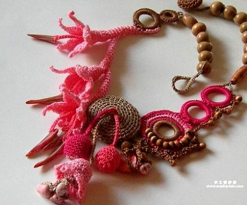 Crochet Patterns Jewelry : crochet-necklace-designs