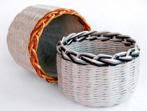 Basket Weaving Essay : Diy recycled magazine basket ideas life chilli