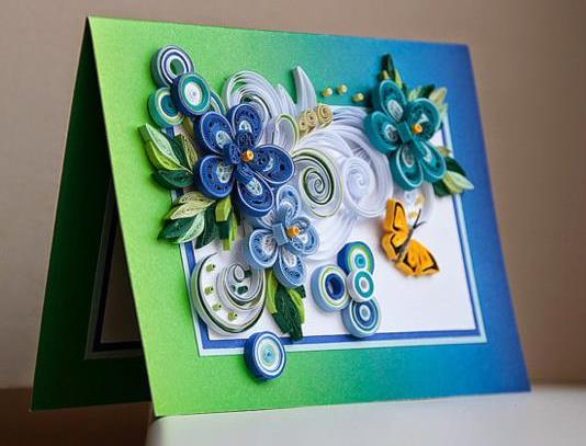 Quilling cards birthday