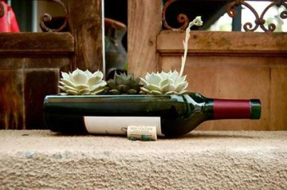 wine-bottle-succulent-planter