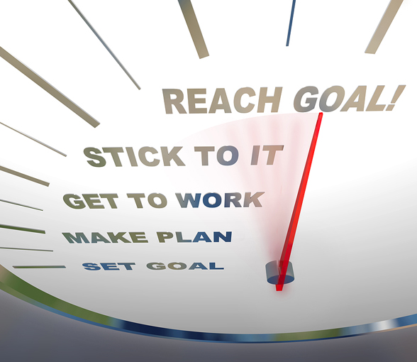 Speedometer - Reaching Your Goal - Life Coach Code