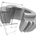 3D CAD Model Gear Section