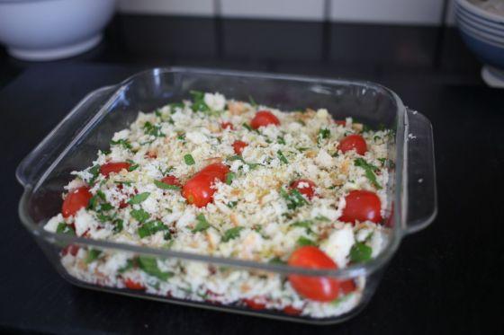 cherry tomato bake