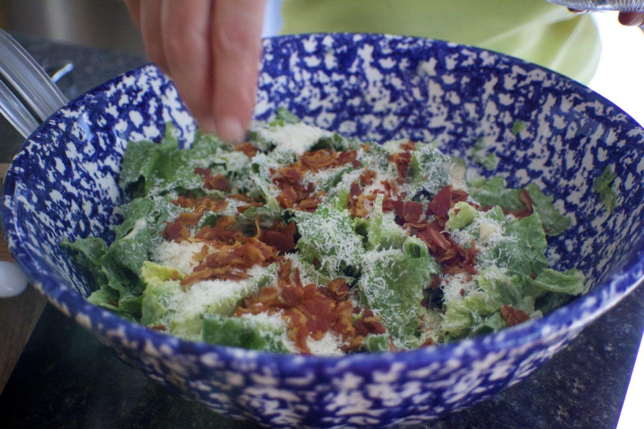 Roasted Garlic Caesar Salad For Garlic Lovers