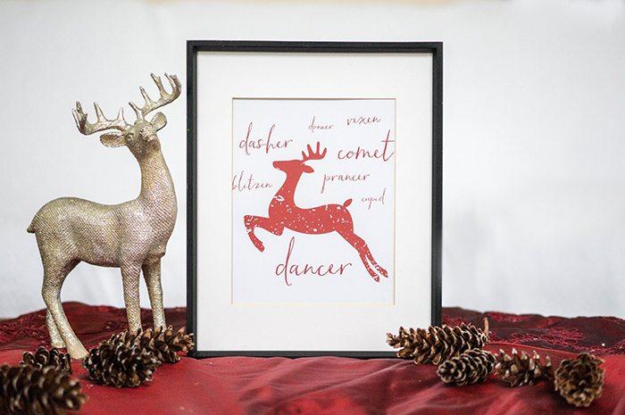 Free Christmas Reindeer Printable