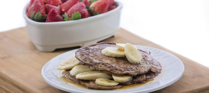 Kathy Smart's Delicious Gluten free Vanilla Bread Pancakes with Catelli pasta.