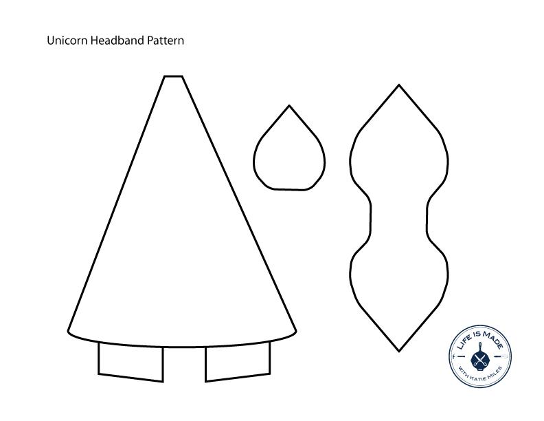Unicorn Headband Tutorial with Free Pattern \u2014 Life is Made - unicorn template