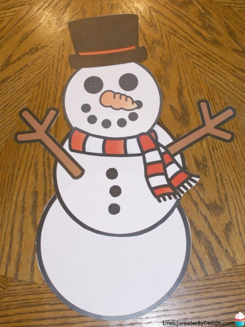 Build a Snowman Free Printables - Life is Sweeter By Design