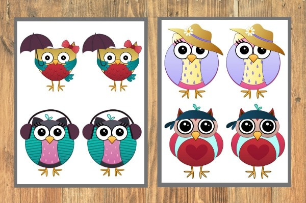 Owl Memory Game Printable - Life is Sweeter By Design