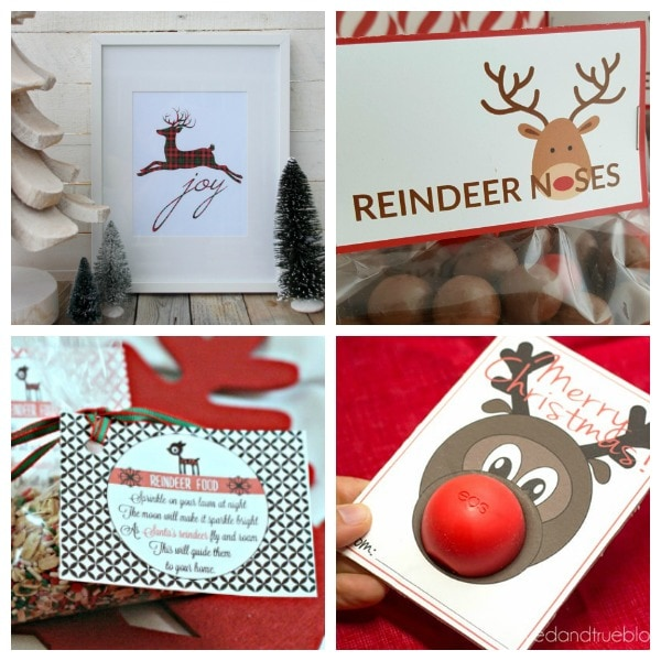 Free Reindeer Printables for Christmas - Life is Sweeter By Design