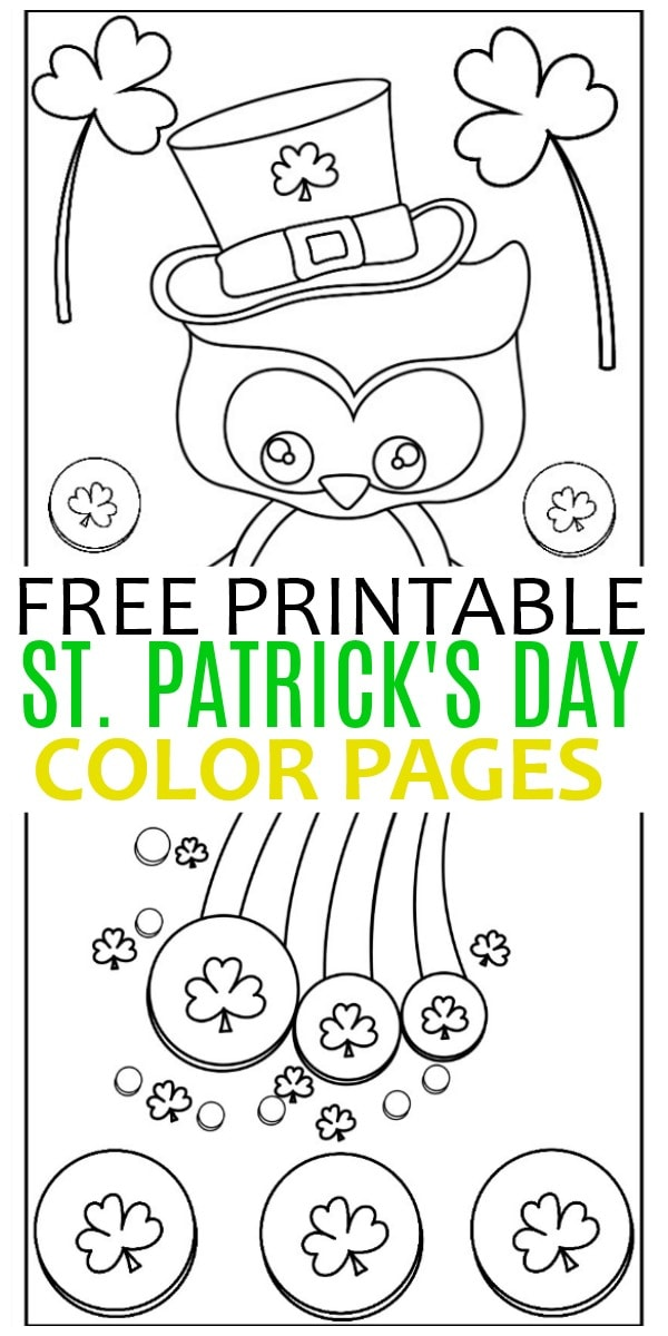 St Patrick\u0027s Day Color Pages - Life is Sweeter By Design
